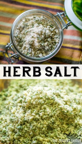 Herb Salt from The Prudent Garden featured on Mountain View Lane blog's Friday Favorites