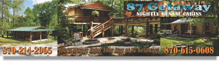 Cabin Rentals In Mountain View, AR. Aunt Minnies Cabin; 87 Getaway ...