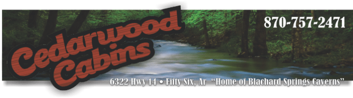 Cedarwood Cabins in Mountain View Ar