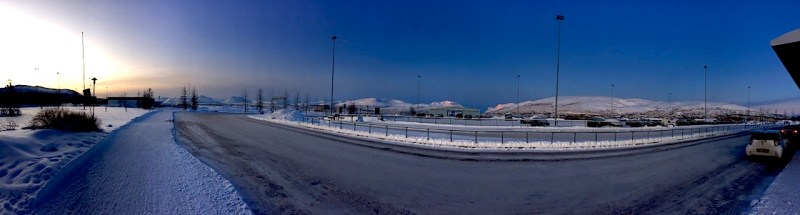 Tromso all'alba