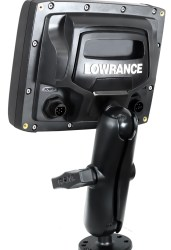 "The RAM 1.5"" Ball Mount attached to a Lowrance Elite-5"