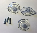 Replacement suction cups and screws for PBA shield holder