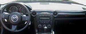 Mazda Miata Cockpit with Round Vents