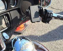 Arkon Mega Grip Mount on a Harley