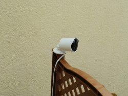 Yi Outdoor Camera on a Fence