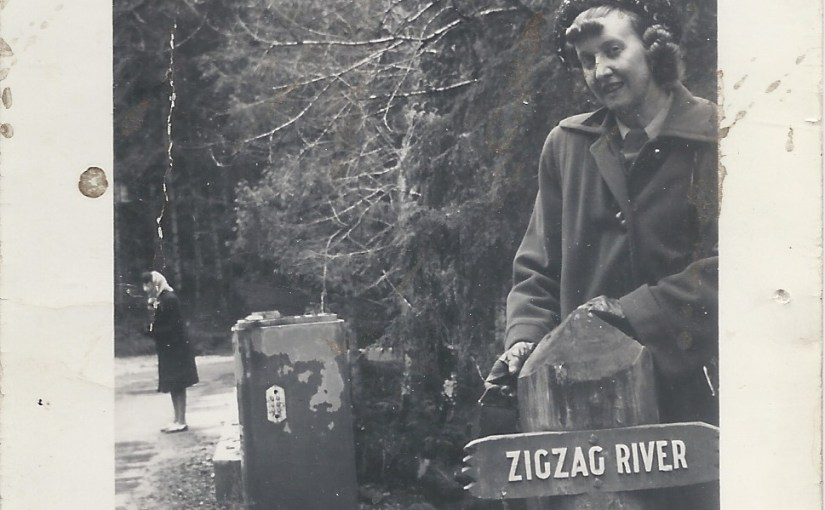 Zigzag River near Rhododendron Oregon – 1948
