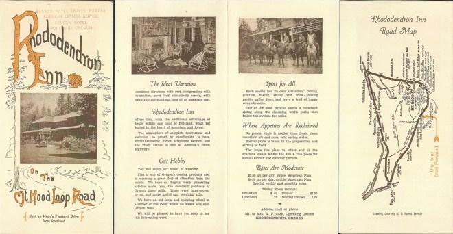 Rhododendron Inn brochure