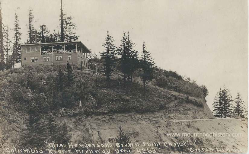 Mrs M.E. Henderson's Crown Point Chalet