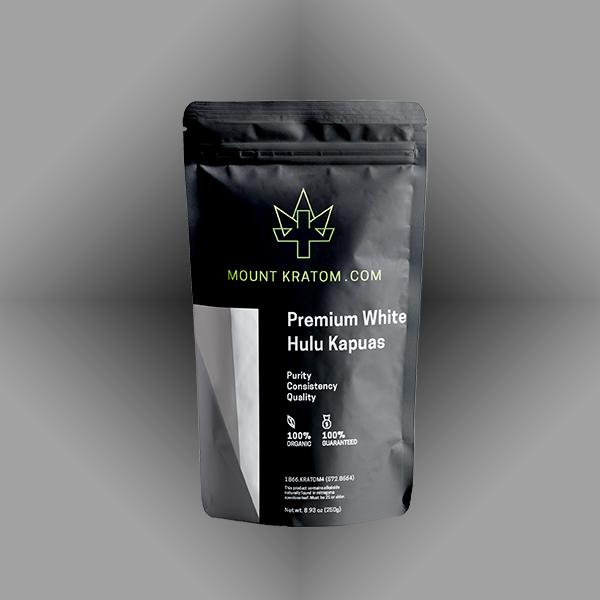White Hulu Kratom Pouch