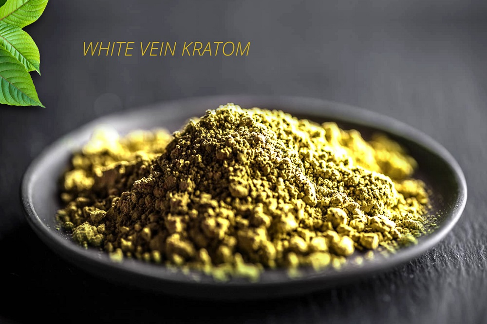 photo of white kratom powder after it was processed into a powder.