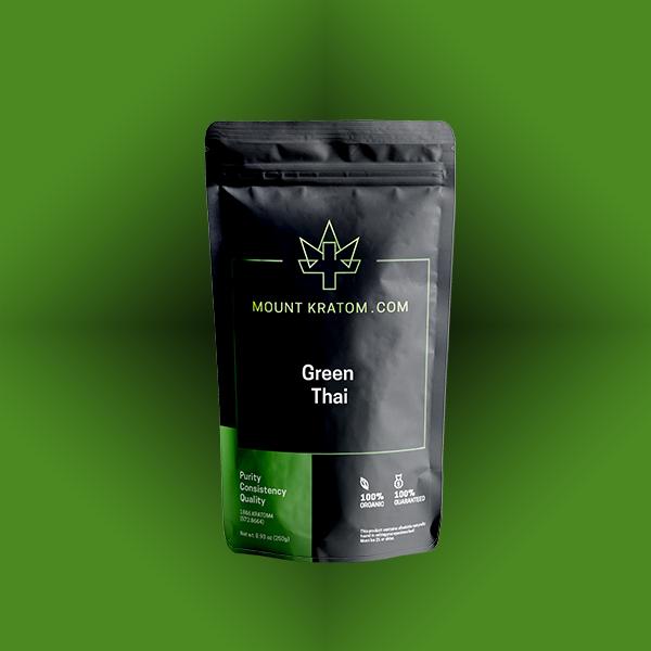 Green Thai Kratom Powder & Capsules