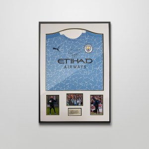 Authentically signed Pep Guardiola 20-21
