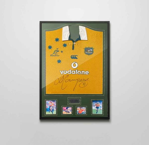 authentically signed campese australia rugby