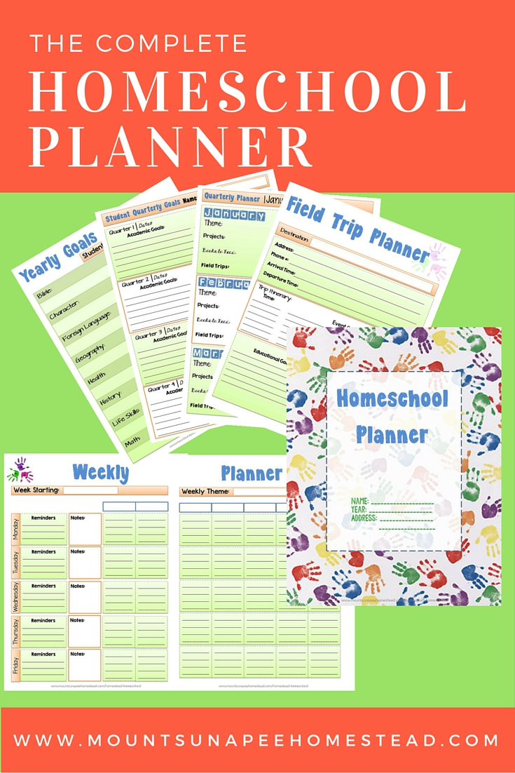 Homeschool Planner Printable - FREE