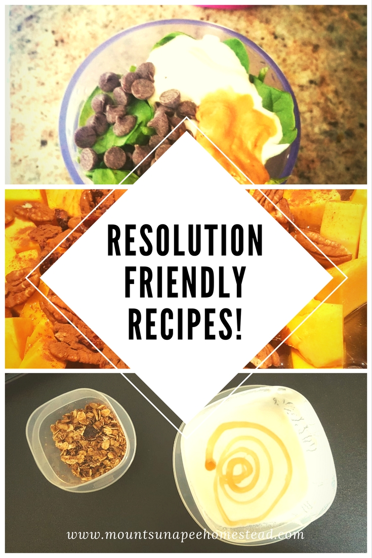 Resolution Friendly Recipes