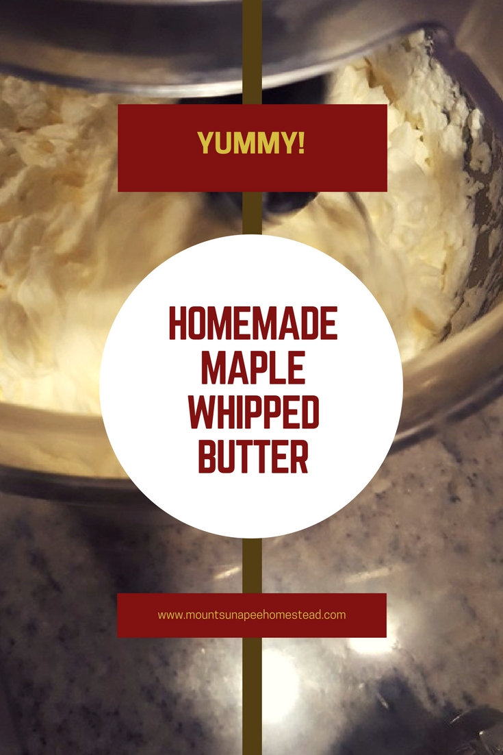 Homemade Maple Whipped Butter