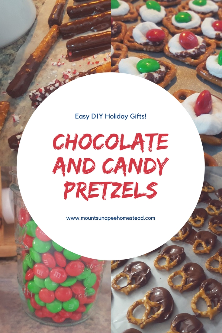 Chocolate and Candy pretzels