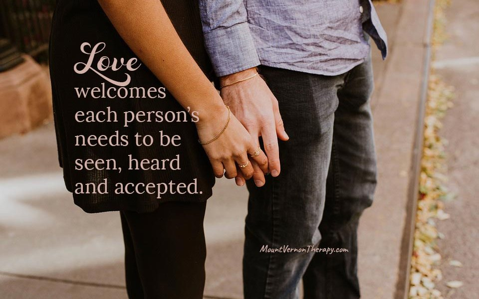 love welcomes relationship needs