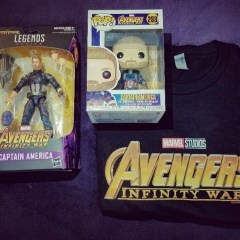 YOU COULD WIN an AVENGERS: INFINITY WAR Captain America Prize Pack!