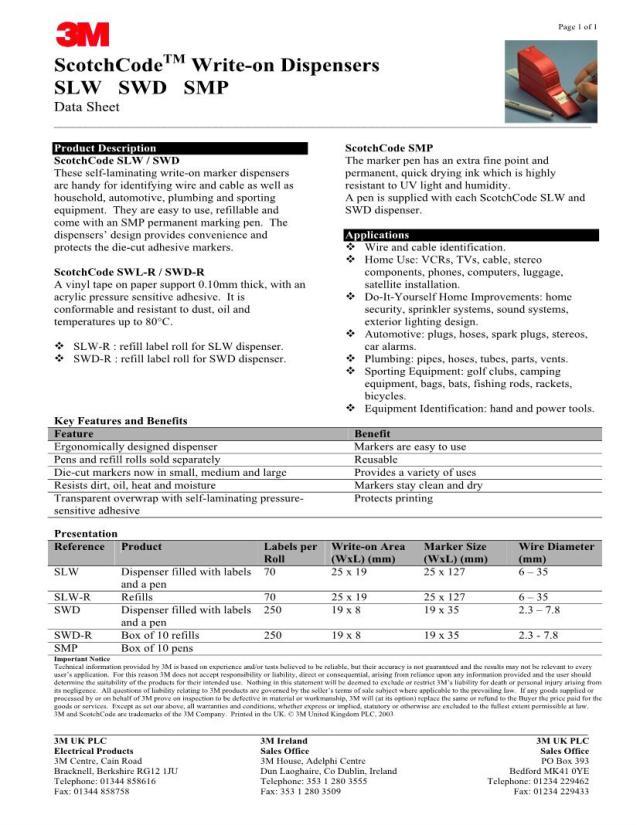 Suchergebnisse für: 29-SWD 29M Drahtidentifikation Datenblätter