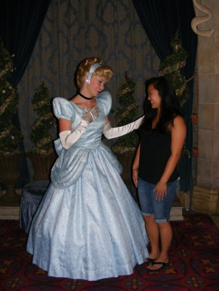 Meeting Cinderella with the reservations we made (that are absolutely necessary!) at Cinderella's Royal Table
