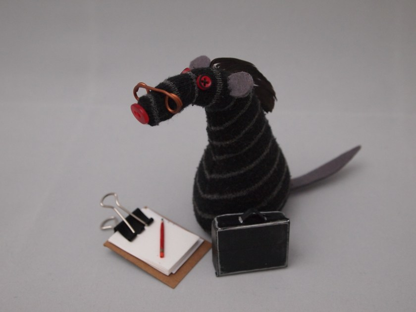 Bernard Vaark with his clipboard and glasses