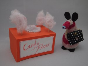 Matilda Vaark poses with her candy floss machine and her Chanel handbag.