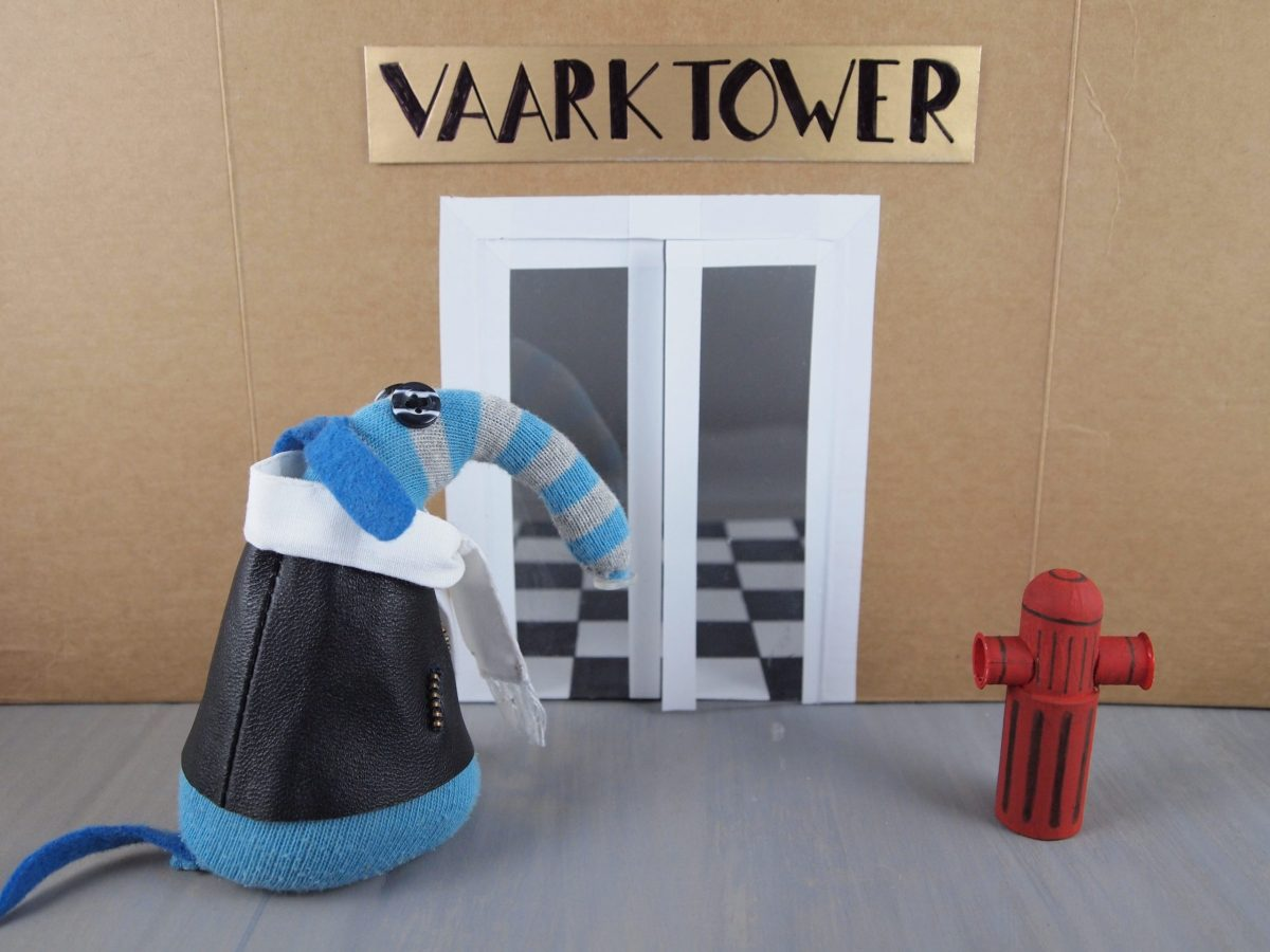 Arnold arrives at the doors of Vaark Tower