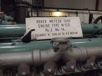 Fury reads the label on a Meteor tank engine