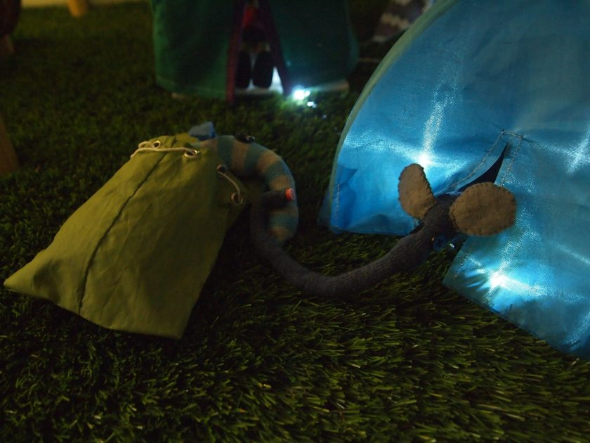 The vaarks are in their tents, with little lights on inside