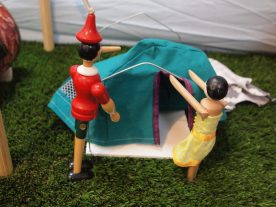 Peggy and Gino take down the ridge tent