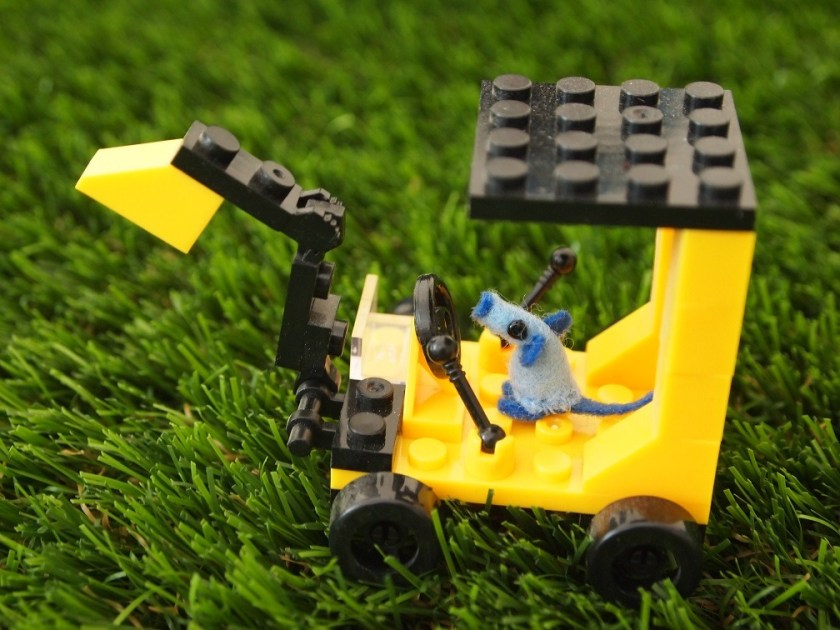 Nano drives a tiny lego digger