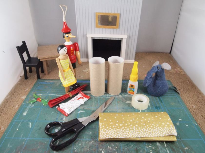 Ernest peggy and gino have gathered the things to make a cracker