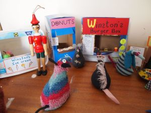 Ratvaark looks at a burger stall, a donut stand and an icecream van