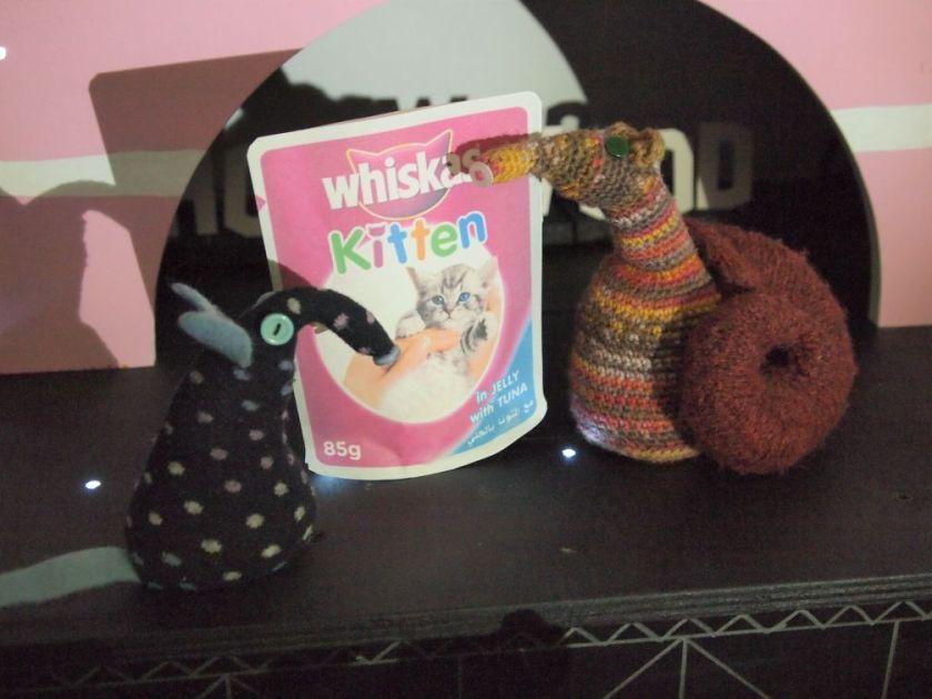 Winston brings a sachet of Whiskas kitten food