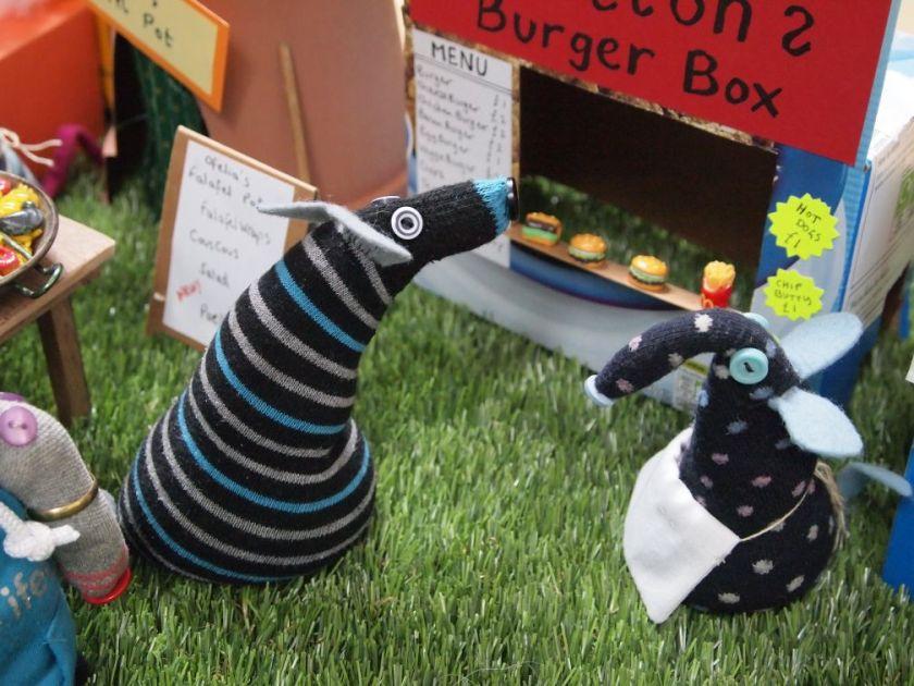 Hypno is looking at the burger van menu