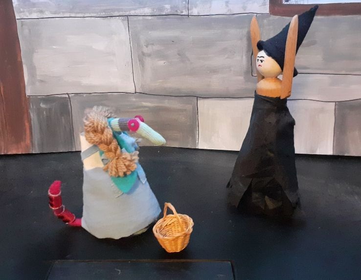 the witch rants at Dorothy