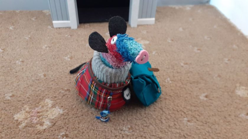 Ratvaark and Nano are wearing kilts and have ratvaark's rucksack