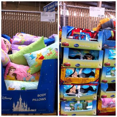 disney body pillows and throws at costco in