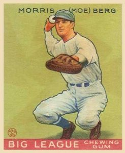 By Goudey - http://www.vintagecardprices.com/card-profile/44498/1933-Goudey-Moe-Berg-158-Baseball-Card-Value-Prices.htm, Public Domain, https://commons.wikimedia.org/w/index.php?curid=12009683