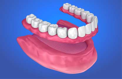 Dentures liner plastic strip the helpful