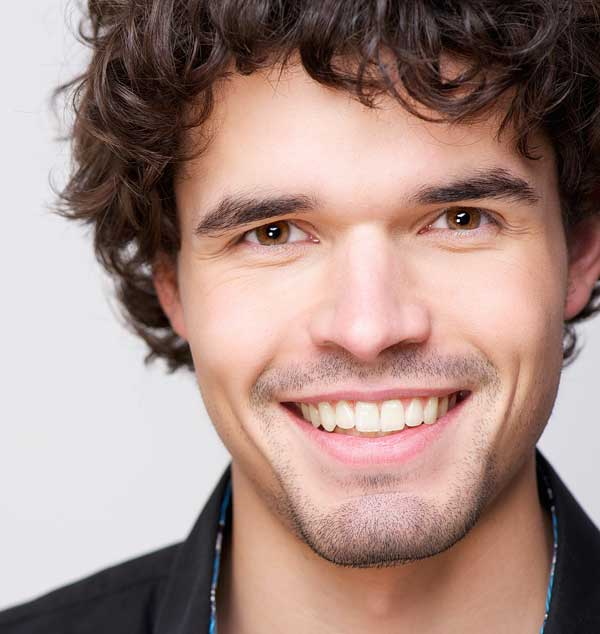 man with a healthy smile