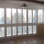 Wooden Window Plantation Shutters Side Hinged Sunburst Shape