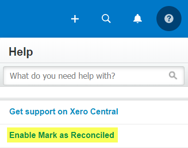 Mark as Reconciled