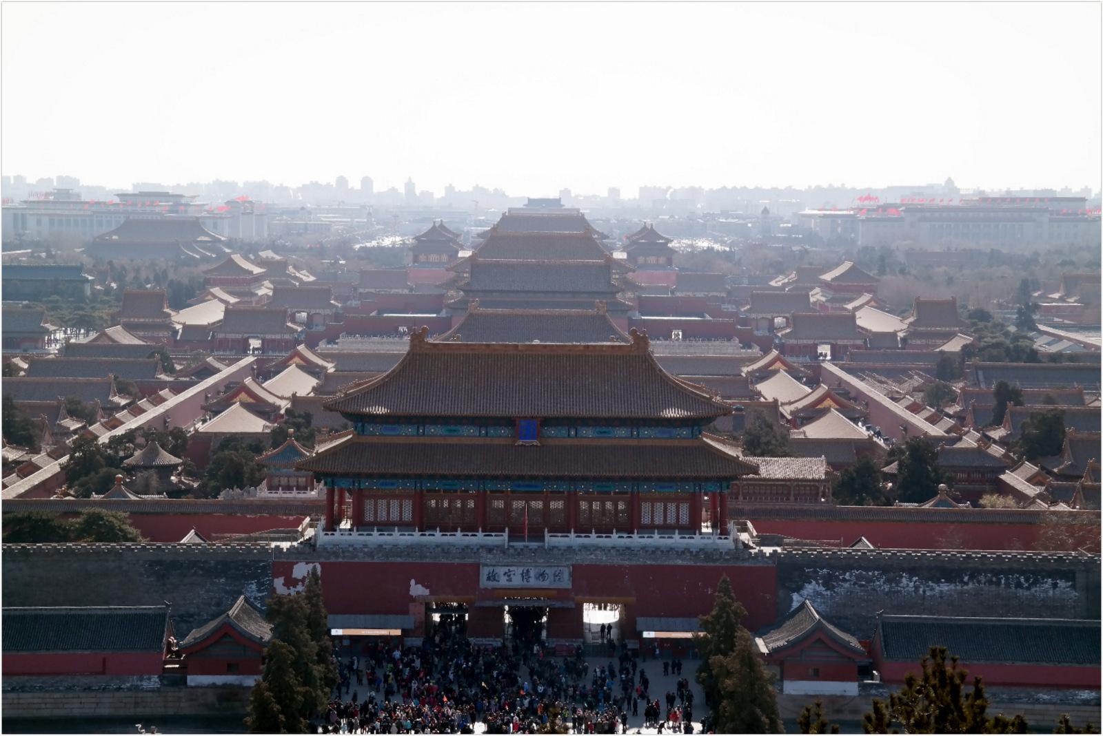 Beijing - View on Fobidden city