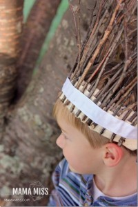 Kids craft stick hat
