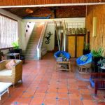 A common area at Rosy Guesthouse Siem Reap