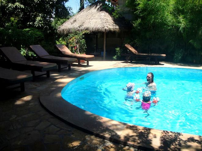 Swimming in Siem Reap