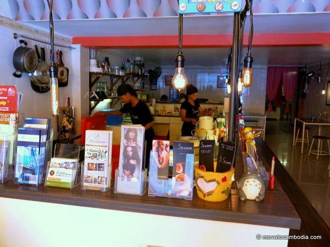 interior of Sesame Noodle Bar Phnom Penh