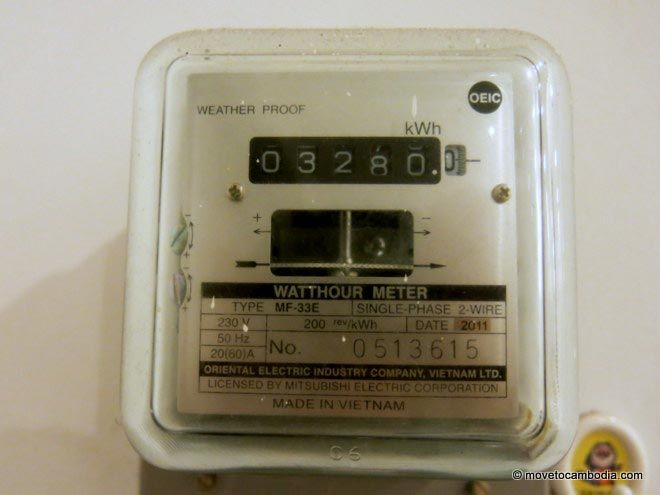 Electricity meter in Cambodia